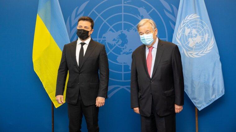 Зеленський передав генсеку ООН список із 450 українських політв'язнів