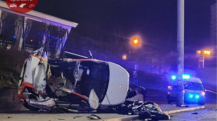 ДТП на каршеринговом авто в Киеве: погибли два человека