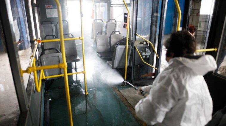 У Києві посилено дезинфікують громадський транспорт