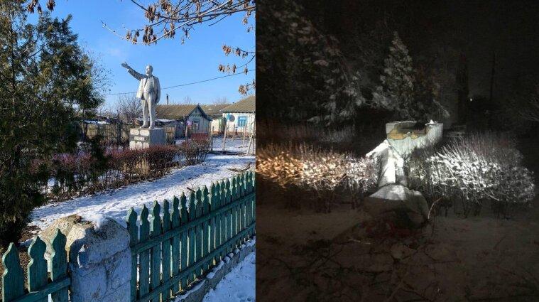На Одещині демонтували останній в Україні пам`ятник Леніну