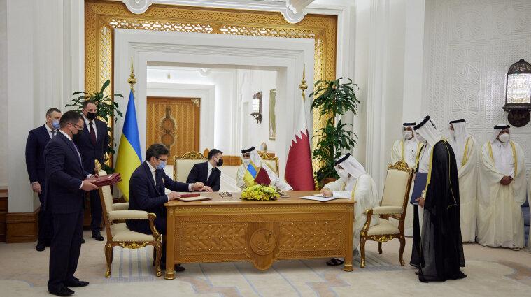 Украина и Катар подписали 13 документов и два коммерческих контракта