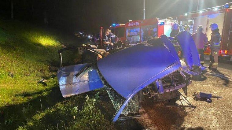 В Польше в автокатастрофе погиб украинец
