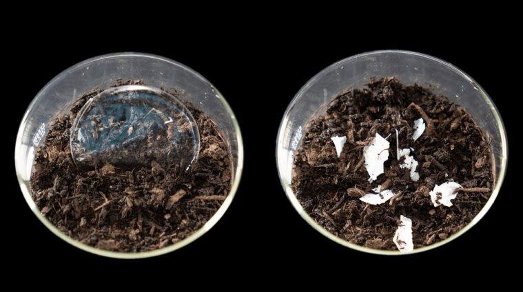 Американські вчені створили пластик, який повністю розкладається у воді та землі