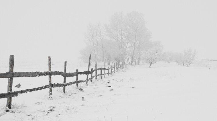 Сніг та хуртовини - у Карпатах через негоду обмежена видимість