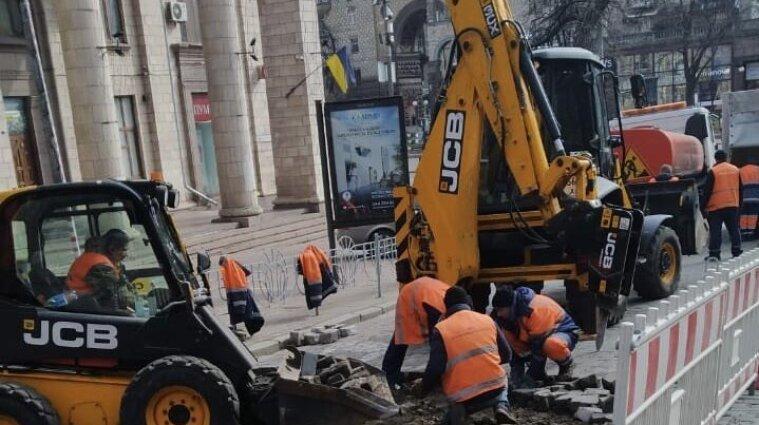 В центре Киева меняют брусчатку: перечень улиц