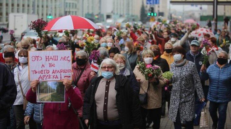 У Білорусі пенсіонери вийшли на протести - фото