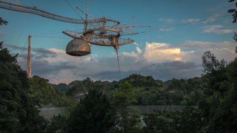 В обсерваторії Пуерто-Рико обвалився гігантський телескоп - відео