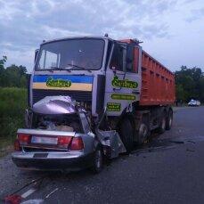 На Полтавщині вантажівка розчавила легковика: четверо загиблих