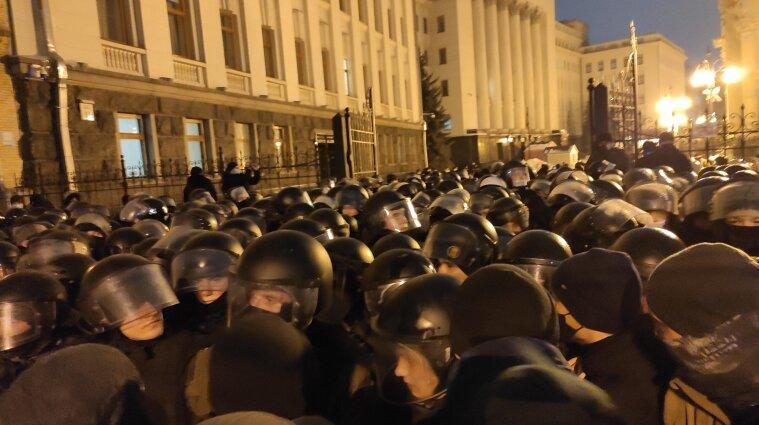 27 правоохоронців постраждали під час протесту на Банковій - поліція Києва
