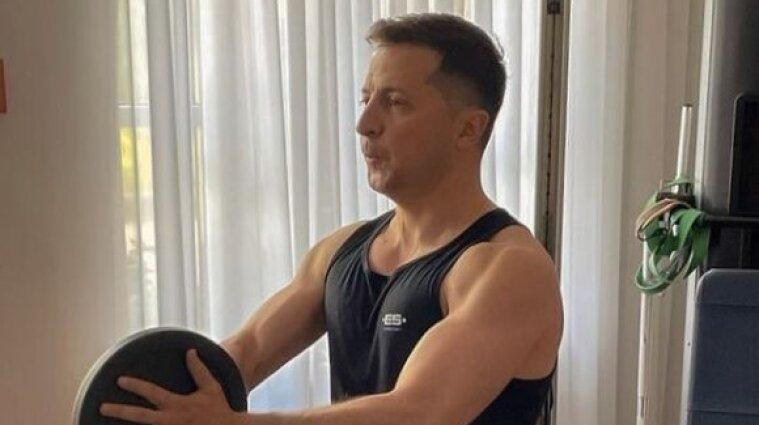 Зеленський розпочав день з ранкового тренування (фото)