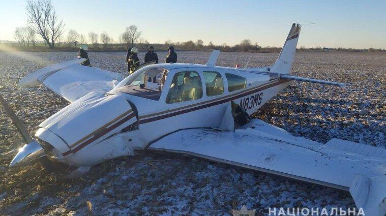 В Киевской области упал самолет: есть пострадавшие