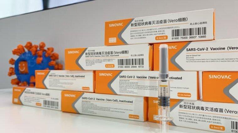 В Украину прибыло 500 тысяч доз COVID-вакцины CoronaVac