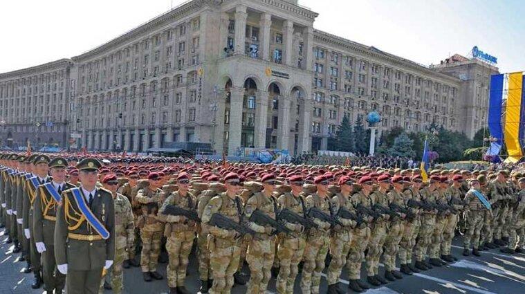 Військовий парад на Хрещатику у Києві: онлайн трансляція
