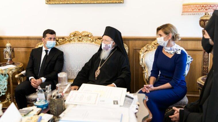 Подружжя Зеленських зустрілося з патріархом Варфоломієм - фото