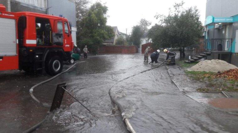 У Білій Церкві злива затопила більше 10 будинків