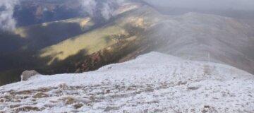 Температура ниже нуля: В Карпатах выпал снег - фото