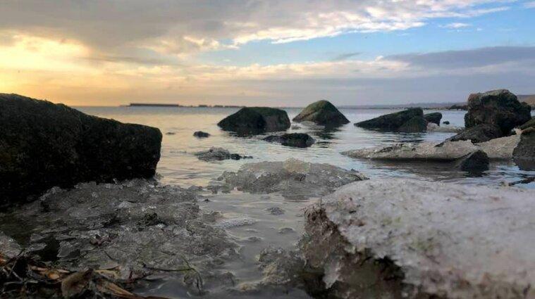 У Запорізькій області замерзло море - відео
