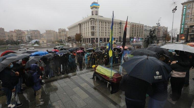 На Майдані Незалежності попрощалися з ветераном АТО - фото
