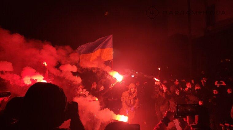 Акция в поддержку Стерненко проходит под Офисом президента - фото