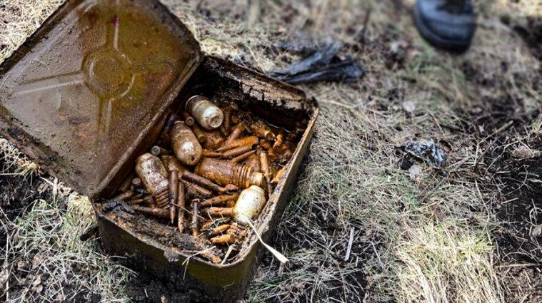 Вблизи школы в Луганской области нашли схрон оружия - фото