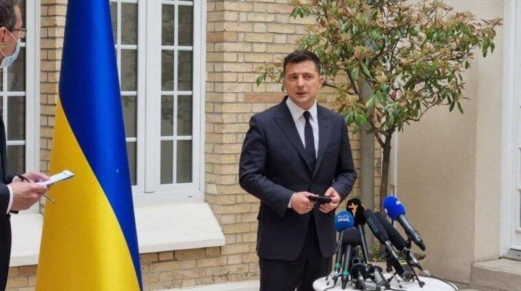 Говорили без Путина: Зеленский рассказал о переговорах с Макрона и Меркель
