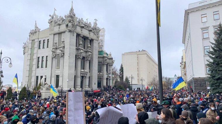Біля Офісу президента розпочався мітинг проти вироку Стерненку - фото