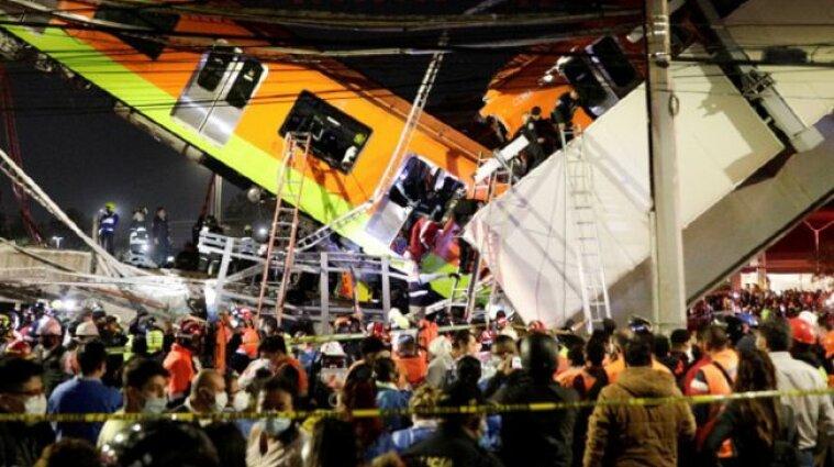У Мехіко обвалився міст метро разом з поїздом (відео)