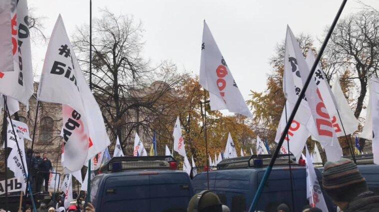 Протести у Києві: силовики затримали учасника акції