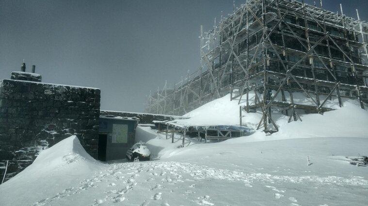В Ивано-Франковской области в мае выпал снег