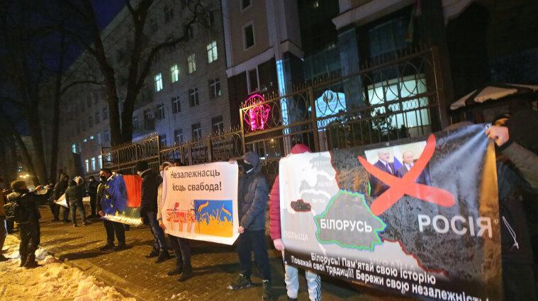 У Києві українці провели акцію солідарності з білорусами