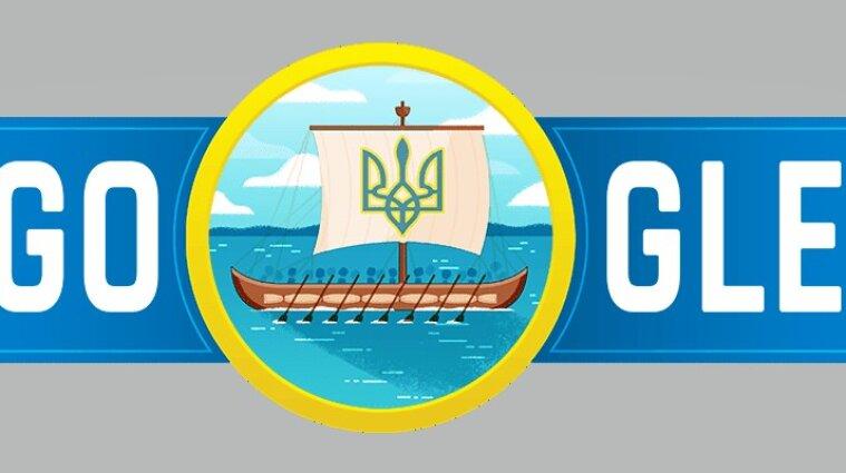 Google представил новый дудл ко Дню Независимости Украины