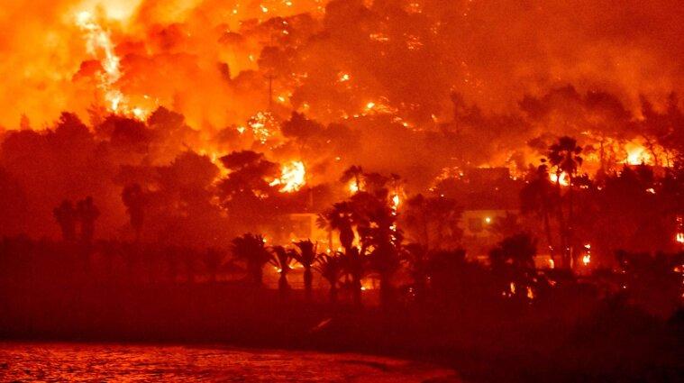 В Греции горит более пяти гектаров леса - фото, видео