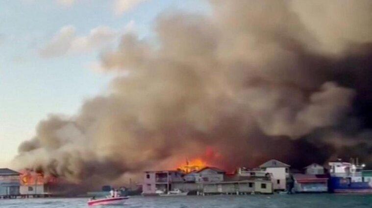 У Гондурасі сталась пожежа: сотні людей були евакуйовані - відео