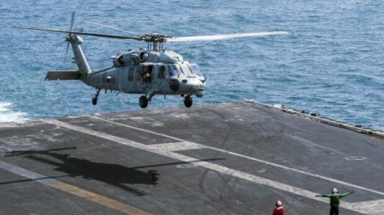 Вертолет Военно-морских сил разбился у берегов США