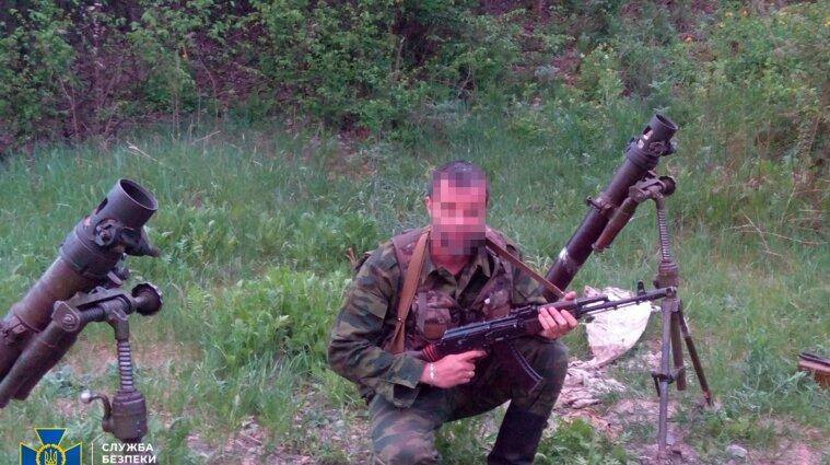 """Боевик """"ЛНР"""" разведывал позиции ВСУ под видом разминирования - видео допроса"""