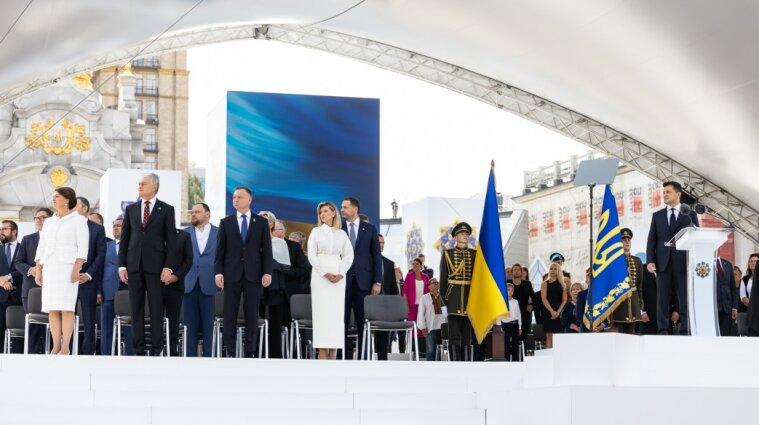 Украину в День независимости посетило рекордное количество лидеров - ОП