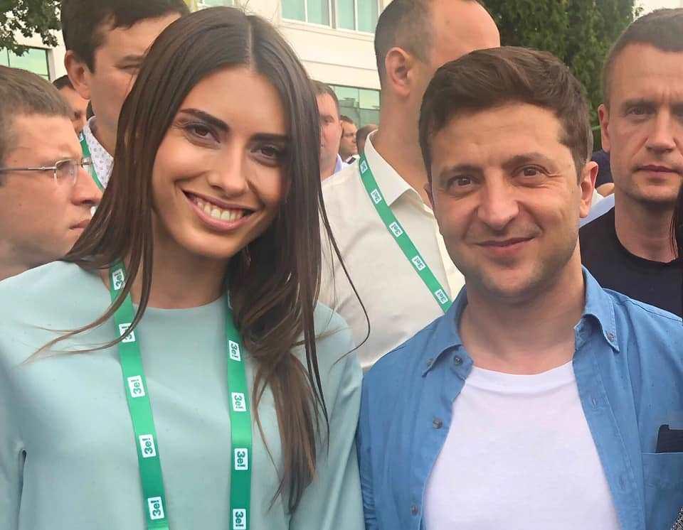 Марія Мезенцева і Володимир Зеленський