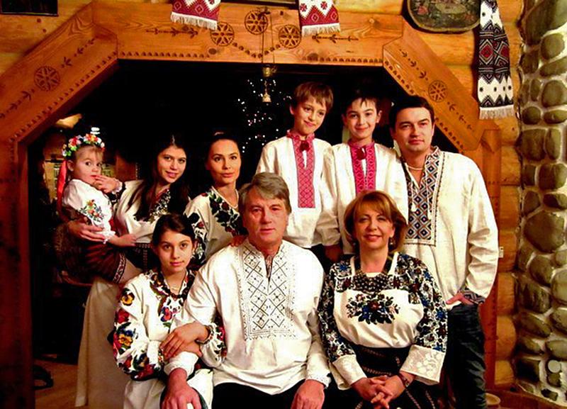 Віктор Ющенко з сім'єю