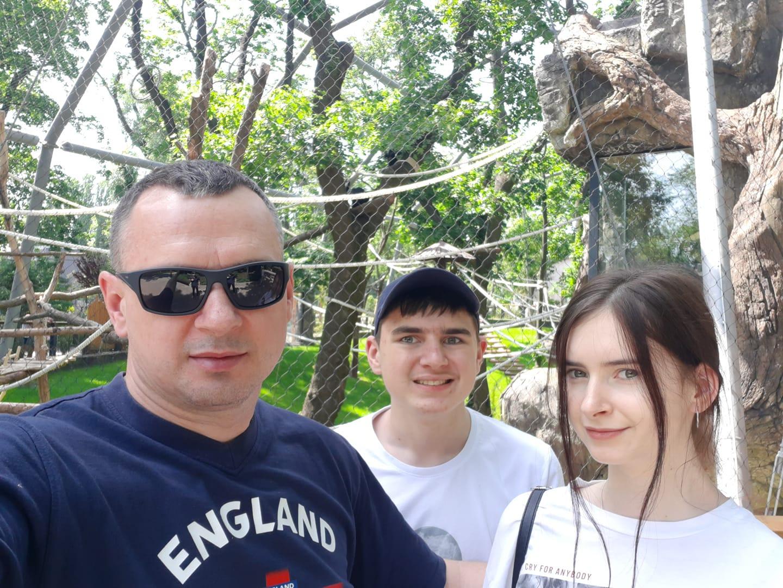 Олег Сенцов з дітьми