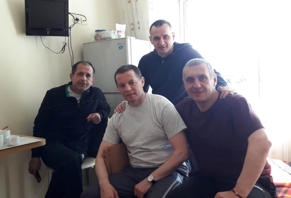 Олег Сенцов з Балухом, Сущенко та Пановим