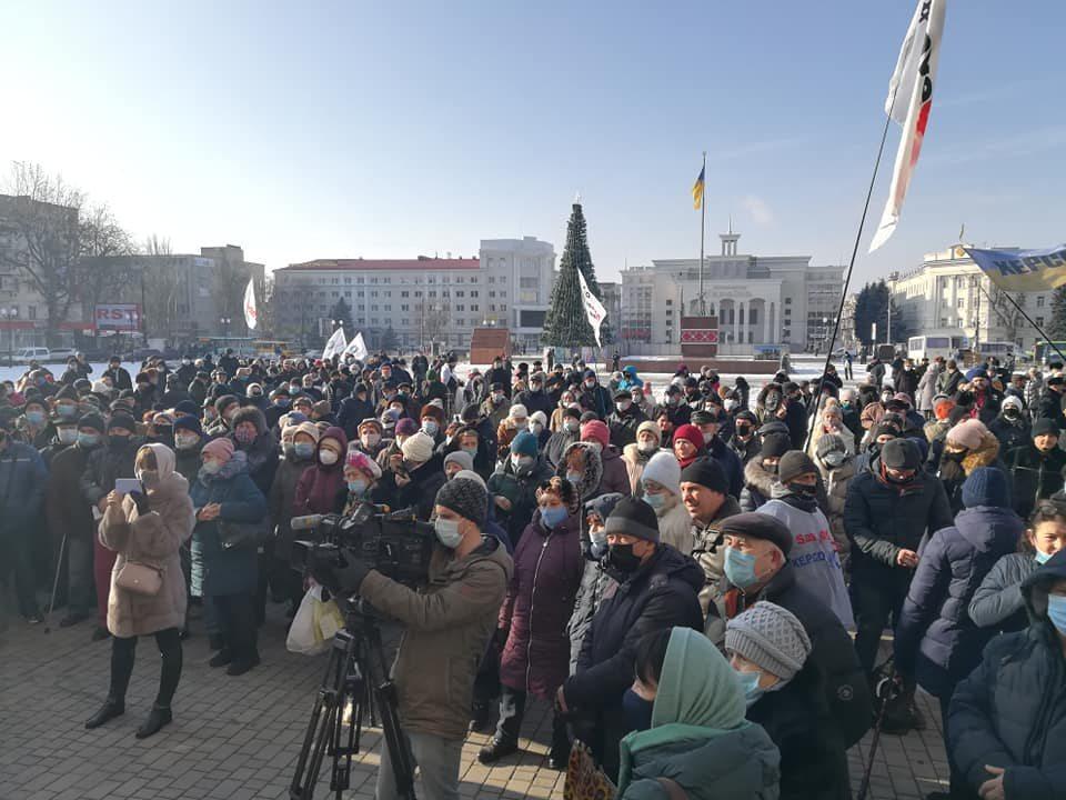 Протест в Херсоне