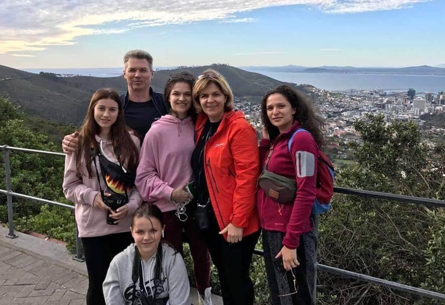 Ольга Богомолец с семьей