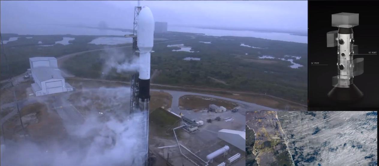 Запуск багаторазової ракети Falcon 9 компанією SpaceX