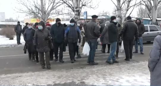 Протест в Чернобаевке Херсонской области
