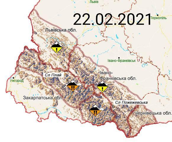 Сніголавинна небезпека у Карпатах