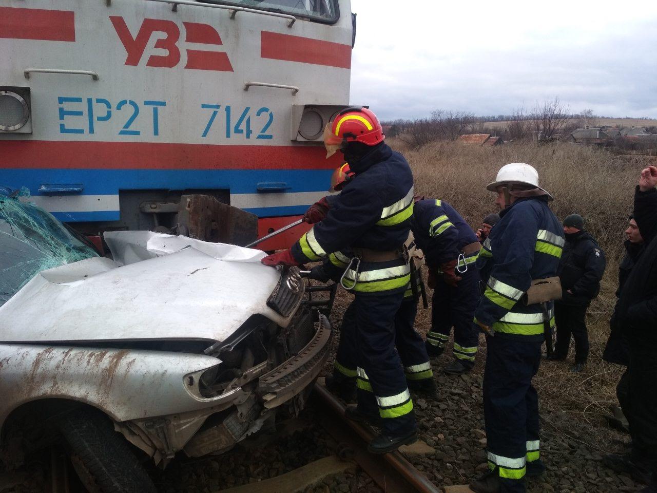 Столкновение поезда и автомобиля в Донецкой области