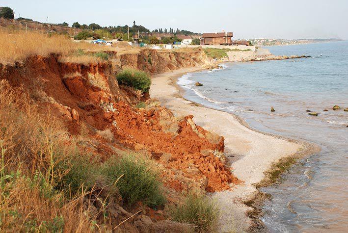 Дикий пляж у селі Фонтанка