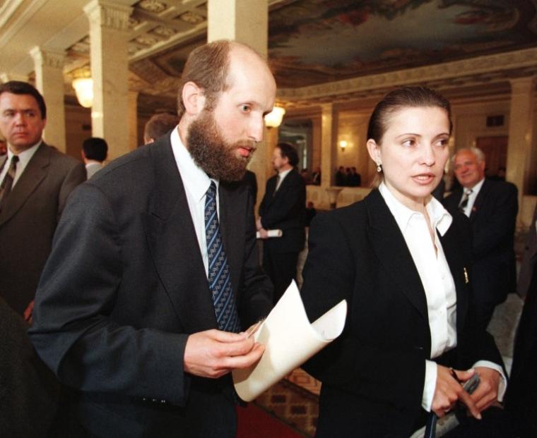 Олександр Турчинов та Юлія Тимошенко, листопад 1999 р.