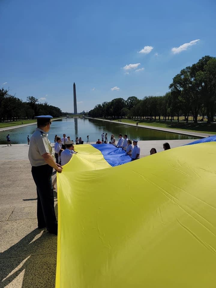 Украинский флаг в Вашингтоне