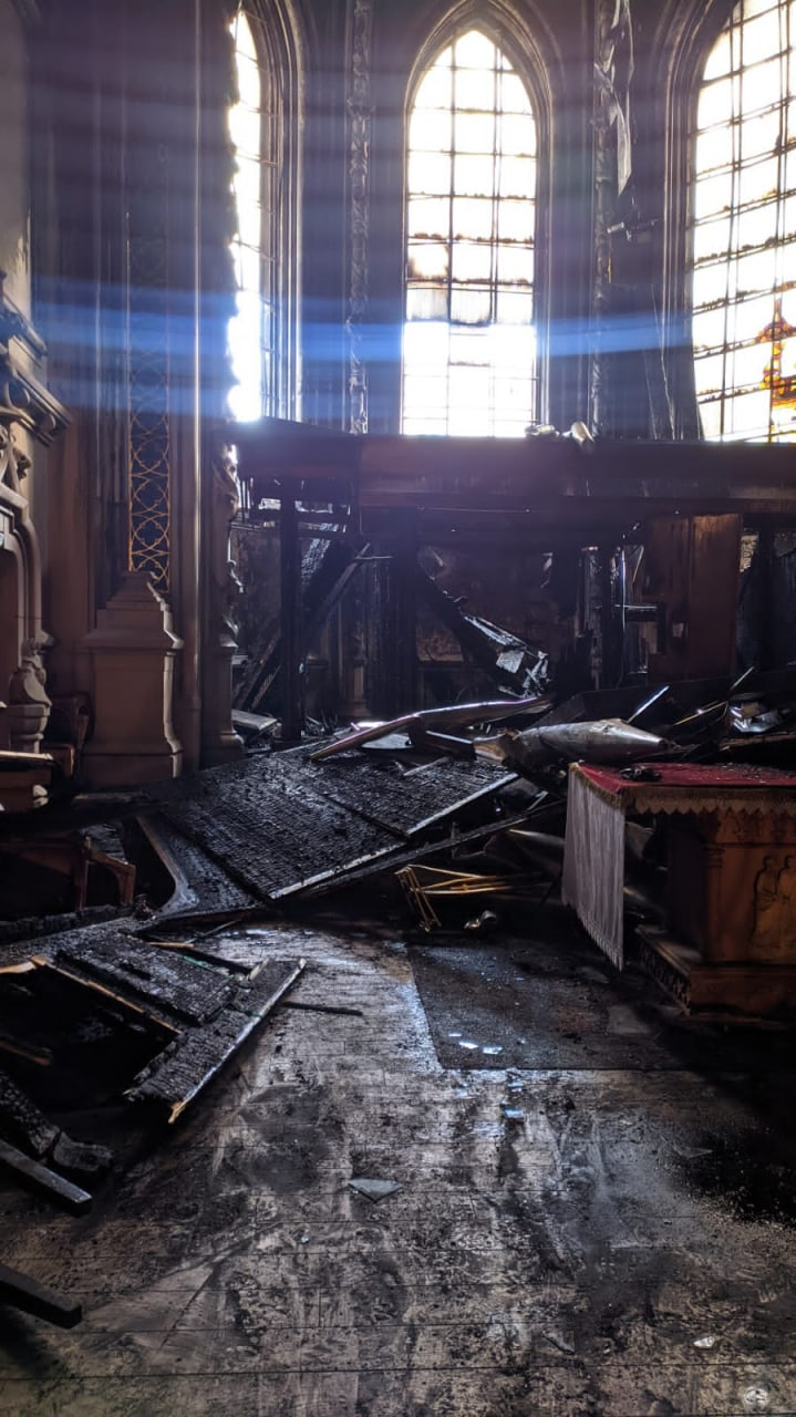 Пожежа у Костелі Святого Миколая в Києві